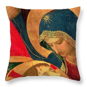 Deposition From The Cross Throw Pillow by Fra Angelico