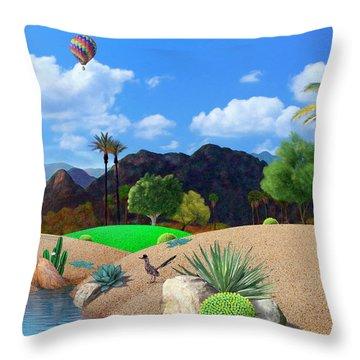 Desert Splendor Throw Pillow by Snake Jagger