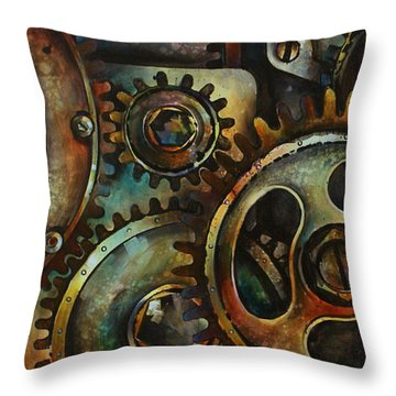 Design 2 Throw Pillow by Michael Lang