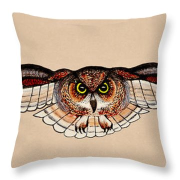 Determination Throw Pillow by Adele Moscaritolo