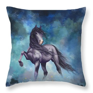 Determination Throw Pillow by Kate Black