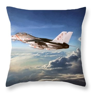 Diamonds In The Sky Throw Pillow by Peter Chilelli