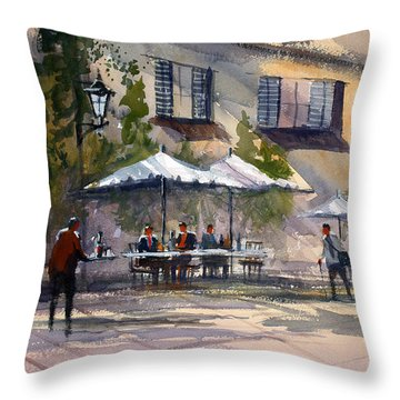 Dining Alfresco Throw Pillow by Ryan Radke