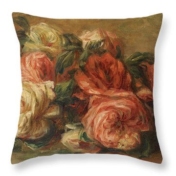 Discarded Roses  Throw Pillow by Pierre Auguste Renoir
