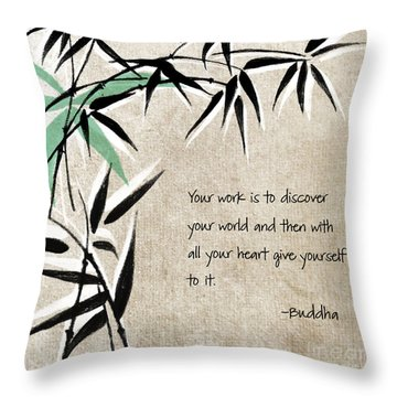 Discover Your World Throw Pillow by Linda Woods