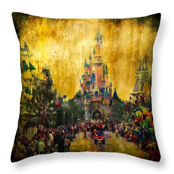 Disney World Throw Pillow by Svetlana Sewell