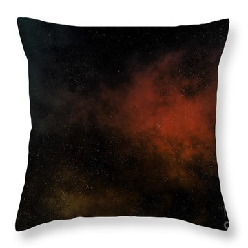 Distant Nebula Throw Pillow by Michal Boubin