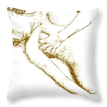 Divinity Throw Pillow by Richard Young