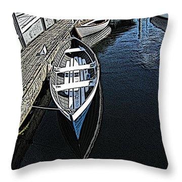 Dockside Quietude Throw Pillow by Tim Allen