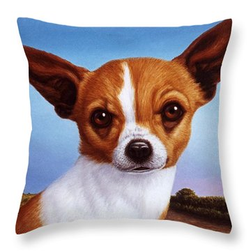 Dog-nature 3 Throw Pillow by James W Johnson