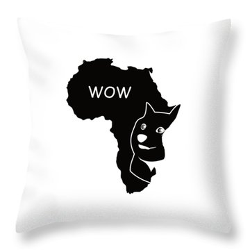 Dogecoin In Africa Throw Pillow by Michael Jordan