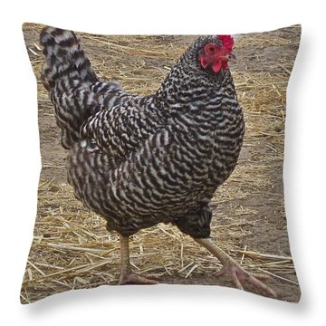 Doing The Hokey Pokey Throw Pillow by Gwyn Newcombe