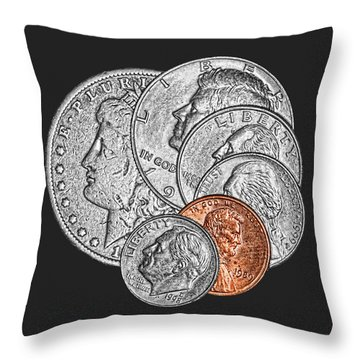 Dollar Ninety One Throw Pillow by Tom Mc Nemar