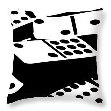 Dominoes IIi Throw Pillow by Tom Mc Nemar