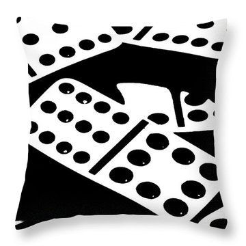 Dominoes Iv Throw Pillow by Tom Mc Nemar