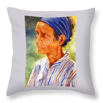 Donna Maria Throw Pillow by Estela Robles