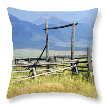 Don't Fence Me In Throw Pillow by Marty Koch