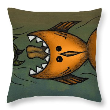 Don't Look Back Throw Pillow by Kelly Jade King