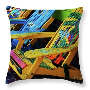 Dont Worry Be Happy Throw Pillow by Debbi Granruth