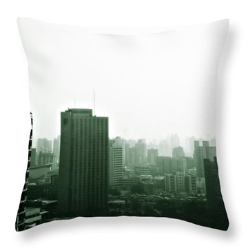 Doomsday Shanghai Throw Pillow by Christine Till