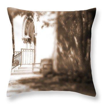 Door To Yesterday Throw Pillow by Lauren Radke
