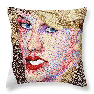 Dotted Throw Pillow by Andrew Fisher