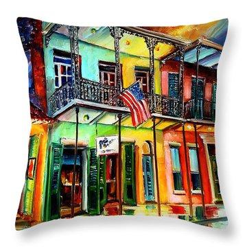 Down On Bourbon Street Throw Pillow by Diane Millsap