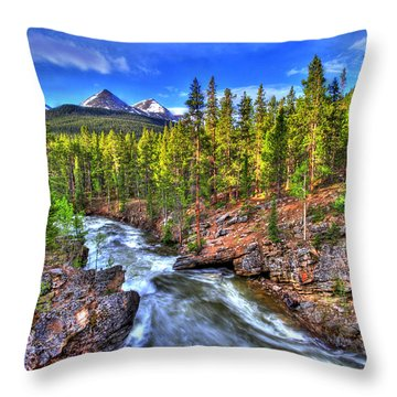 Down The River Throw Pillow by Scott Mahon