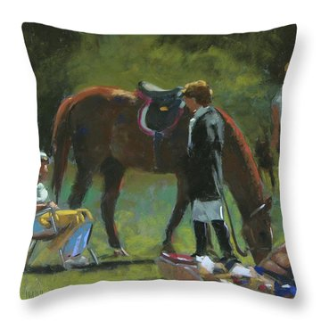 Down Time Throw Pillow by Mary McInnis