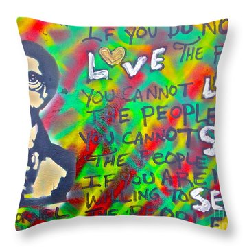 Dr. Cornel West  Love The People Throw Pillow by Tony B Conscious