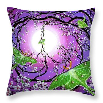 Drawn To The Light Throw Pillow by Laura Iverson