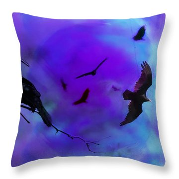 Dreaming Of Flying Throw Pillow by Bill Cannon