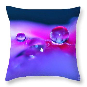 Droplets In Fantasyland Throw Pillow by Kaye Menner