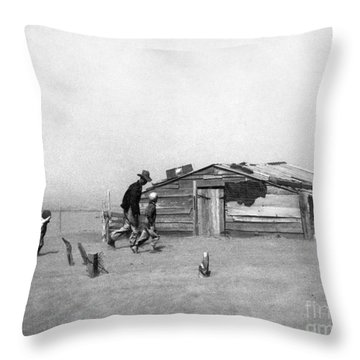 Drought: Dust Storm, 1936 Throw Pillow by Granger