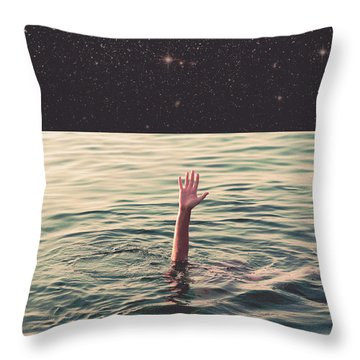Drowned In Space Throw Pillow by Fran Rodriguez