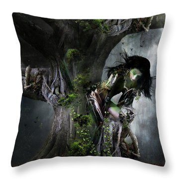 Dryad's Dance Throw Pillow by Mary Hood