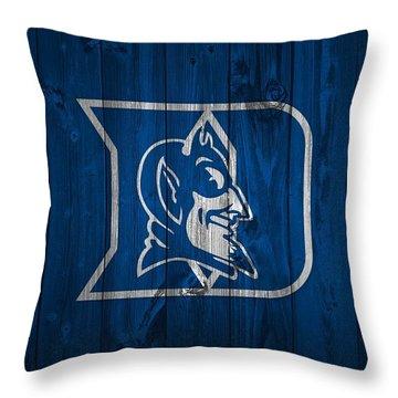Duke Blue Devils Barn Door Throw Pillow by Dan Sproul