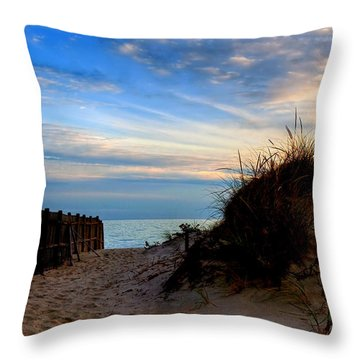 Dunes On The Cape Throw Pillow by Joann Vitali