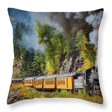 Durango-silverton Narrow Gauge Railroad Throw Pillow by Inge Johnsson