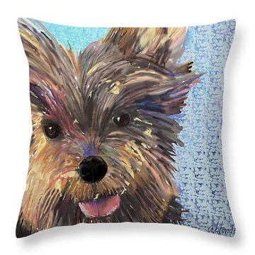 Dusty Throw Pillow by Arline Wagner