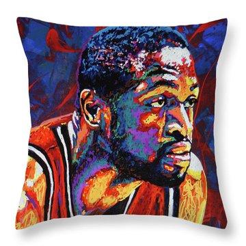 Dwyane Wade 3 Throw Pillow by Maria Arango