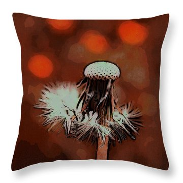 Dying Blowball Throw Pillow by Jutta Maria Pusl
