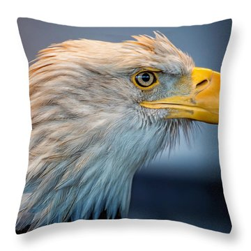 Eagle With An Attitude Throw Pillow by Bill Tiepelman
