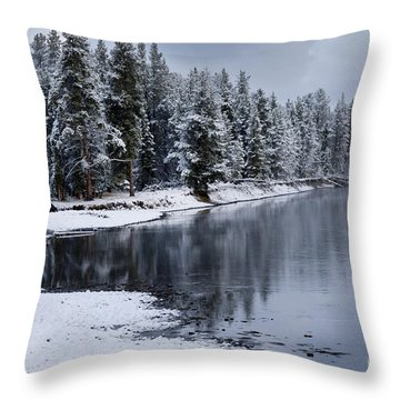 Early Fall Storm In Yellowstone Throw Pillow by Sandra Bronstein