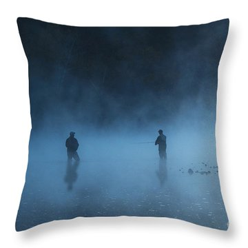 Early Morning Fishing Throw Pillow by Tamyra Ayles