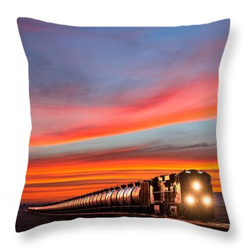 Early Morning Haul Throw Pillow by Todd Klassy