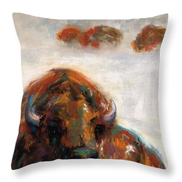 Early Morning Snow Throw Pillow by Frances Marino