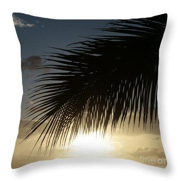 Earth Heart Throw Pillow by Sharon Mau