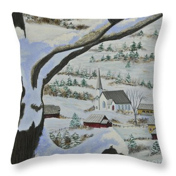 East Orange Vermont Throw Pillow by Charlotte Blanchard