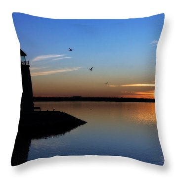 East Warf Sunset Throw Pillow by Lana Trussell